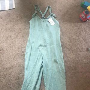 Zara gauze overalls